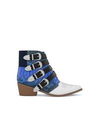 blaue Leder Stiefeletten von Toga Pulla