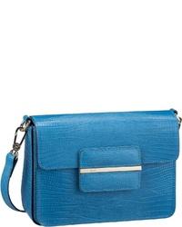 blaue Leder Umhängetasche von Abro