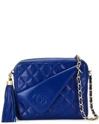 blaue Leder Umhängetasche von Chanel