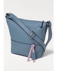 blaue Leder Umhängetasche von Esprit