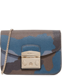 blaue Leder Umhängetasche von Furla