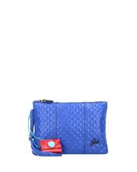 blaue Leder Umhängetasche von Gabs