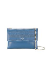 blaue Leder Umhängetasche von Lanvin