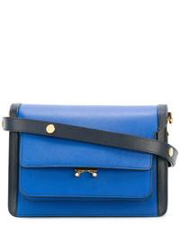 blaue Leder Umhängetasche von Marni
