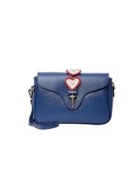blaue Leder Umhängetasche von myMo