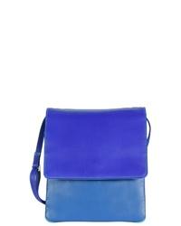 blaue Leder Umhängetasche von Mywalit