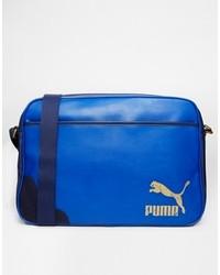 blaue Leder Umhängetasche von Puma