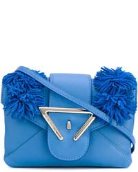 blaue Leder Umhängetasche von Sara Battaglia