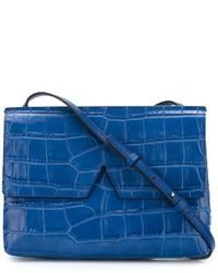 blaue Leder Umhängetasche von Vince