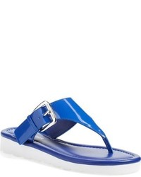 blaue Leder Zehentrenner