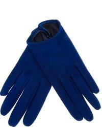 blaue Lederhandschuhe
