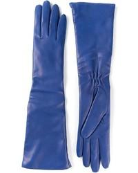 blaue Lederhandschuhe von P.A.R.O.S.H.