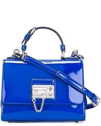 blaue Lederhandtasche von Dolce & Gabbana