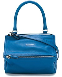 blaue Lederhandtasche von Givenchy
