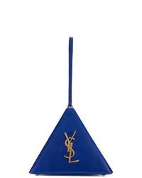blaue Lederhandtasche von Saint Laurent