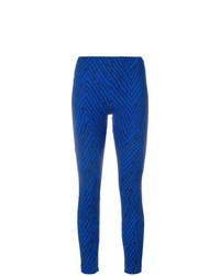 blaue Leggings mit geometrischem Muster von Emanuel Ungaro Vintage