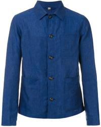 blaue leichte Shirtjacke von Burberry