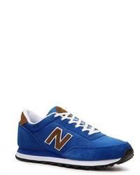 blaue niedrige Sneakers