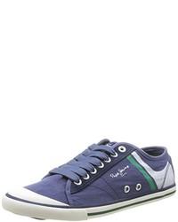 blaue niedrige Sneakers von Pepe Jeans