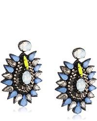 blaue Ohrringe von Deepa Gurnani