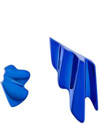 blaue Ohrringe von Saint Laurent