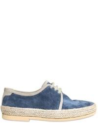 blaue Oxford Schuhe