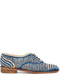 blaue Oxford Schuhe von Robert Clergerie
