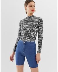 blaue Radlerhose aus Jeans