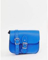 blaue Satchel-Tasche aus Leder von Leather Satchel Company