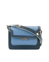 blaue Satchel-Tasche aus Leder von Marni