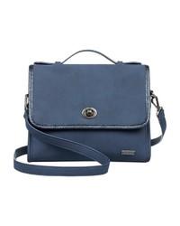 blaue Satchel-Tasche aus Leder von Roxy