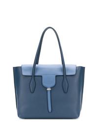 blaue Satchel-Tasche aus Leder von Tod's