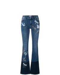 blaue Schlagjeans mit Destroyed-Effekten von RED Valentino