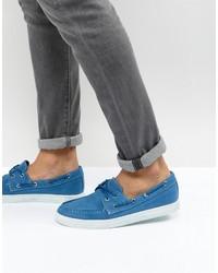 blaue Segeltuch Bootsschuhe von Armani Jeans