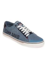 blaue Segeltuch niedrige Sneakers von Camp David