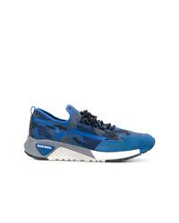blaue Segeltuch niedrige Sneakers von Diesel