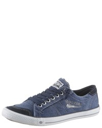 blaue Segeltuch niedrige Sneakers von Dockers by Gerli