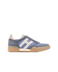 blaue Segeltuch niedrige Sneakers von Hogan