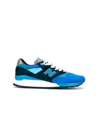 blaue Segeltuch niedrige Sneakers von New Balance