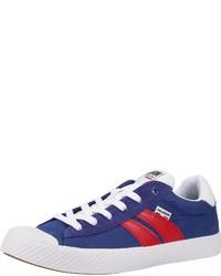 blaue Segeltuch niedrige Sneakers von Palladium