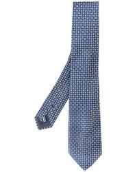blaue Seidekrawatte von Giorgio Armani