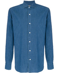 blaue Shirtjacke