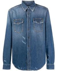 blaue Shirtjacke von Givenchy