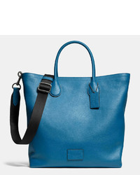 blaue Shopper Tasche aus Leder