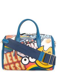 blaue Shopper Tasche aus Leder von Anya Hindmarch