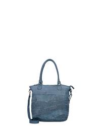 blaue Shopper Tasche aus Leder von Billy The Kid