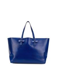 blaue Shopper Tasche aus Leder von Bottega Veneta