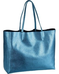 blaue Shopper Tasche aus Leder von Coccinelle