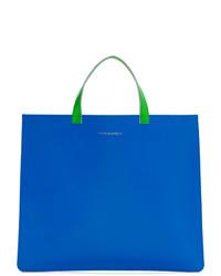 blaue Shopper Tasche aus Leder von Comme des Garcons Wallets