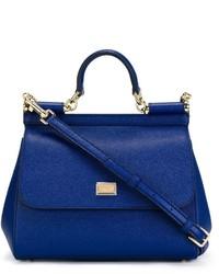blaue Shopper Tasche aus Leder von Dolce & Gabbana